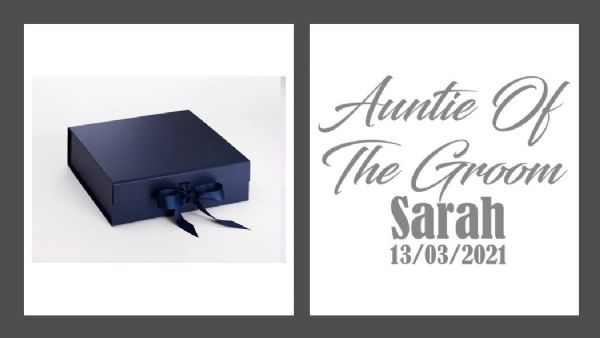Auntie Of The Groom Large Luxury Personalised Gift Box